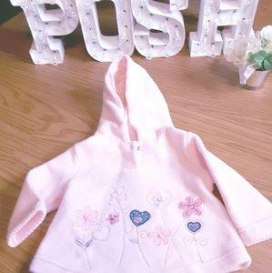 KRU Supplies pink fleece sweatshirt size 6/9 mos